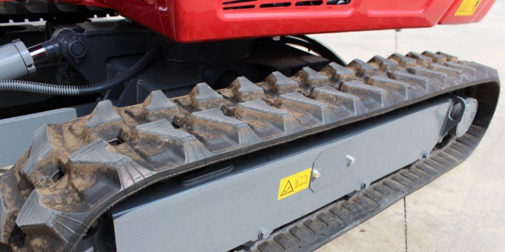 Gumové pásy na bagri